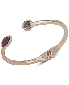 Ivanka Trump Gold-Tone Crystal & Stone Cuff Bracelet