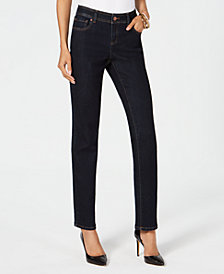 I.N.C. Curvy Mid-Rise Straight-Leg Jeans, Created for Macy's