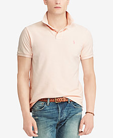 Polo Ralph Lauren Men's Pink Pony Cotton Polo