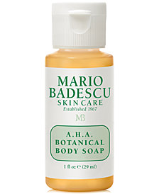 Receive a FREE 1 oz Deluxe AHA Body Soap with $25 Mario Badescu purchase!