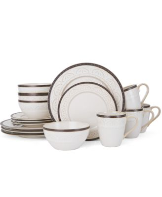 Pfaltzgraff 16-Pc. Promenade Scroll Dinnerware Set