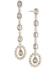 Givenchy Crystal & Stone Linear Drop Earrings