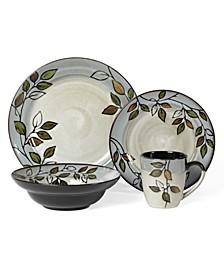 Rustic Leaves 16-Pc. Dinnerware Set