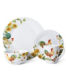 Pfaltzgraff 16-Pc. Garden Rooster Dinnerware Set
