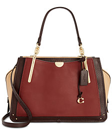 COACH Colorblock Leather Dreamer 36 Satchel