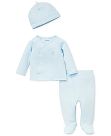 Little Me Baby Boys 3-Pc. Cardigan, Pants & Hat Set