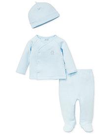 Little Me Baby Boys 3-Pc. Cardigan, Pants & Hat Set