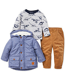 Little Me Baby Boys 3-Pc. Jacket, Top & Pants Set