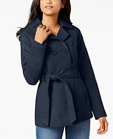 Celebrity Pink Juniors' Double-Breasted Peacoat