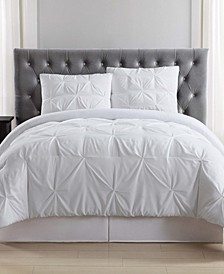 Pleated Twin XL Duvet Set