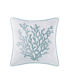"Oceanfront Resort Cove Seafoam 18"" Square Decorative Pillow"