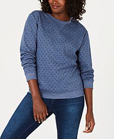 Karen Scott Petite Dot-Print Sweatshirt, Created for Macy's