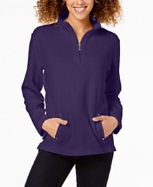 Karen Scott Half-Zip Top, Created for Macy's