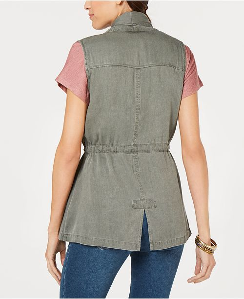 Co for Open Macy's amp; Vest Created Sage Front Draped Style PTUnWg
