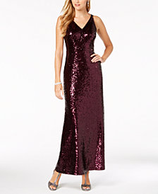 Nightway Sequined Gown