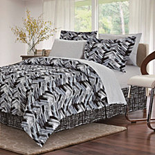 Tribeca Black 8-Piece Bed-In-Bag, Full