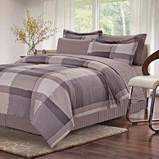 Harmony Grey 8-Piece Bed-In-Bag, Queen