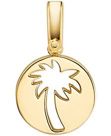 Women's Custom Kors 14K Gold-Plated Sterling Silver Palm Tree Charm