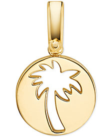 Michael Kors Women's Custom Kors 14K Gold-Plated Sterling Silver Palm Tree Charm