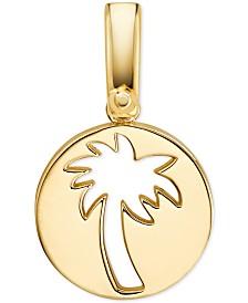 Michael Kors Women's Custom Kors 14K Gold-Plated Sterling Silver Palm Tree Charm