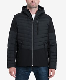 MICHAEL Michael Kors Men's Hector Mixed-Media Down Fill Stretch Jacket
