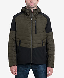 MICHAEL Michael Kors Men's Hector Mixed-Media Down Fill Stretch Jacket