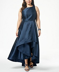 Plus Size High-Low Mikado Gown