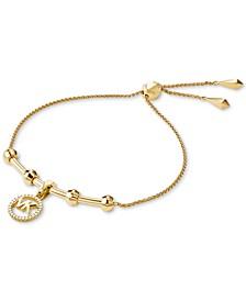 Women's Custom Kors Sterling Silver Logo Starter Bracelet