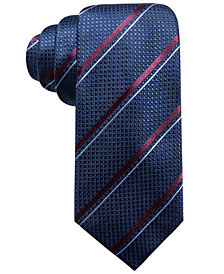 Tasso Elba Men's Stripe Silk Tie, Created for Macy's