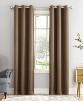 "Sun Zero Preston 40"" x 108"" Grommet Top Blackout Curtain Panel"