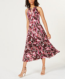 Bar III Floral-Print Midi Dress, Created for Macy's