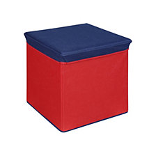 Storage Ottoman, Red