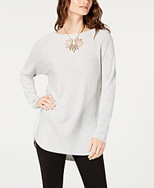 I.N.C. Shirttail Sweater, Created for Macy's