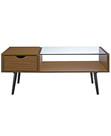 Wood and Glass Coffee Table - Acorn