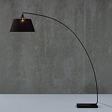 Modern Flex Arch Floor Light Lamp - Black