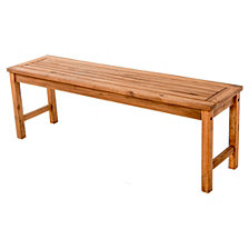 Acacia Wood Patio Bench - Brown