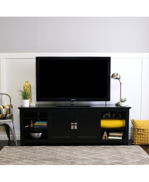 Walker Edison 70 Wood Media Tv Stand Console With Sliding Doors