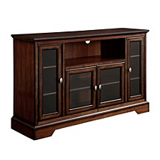"52"" Wood Highboy TV Media Stand Storage Console - Brown"