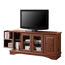 "52"" Wood TV Media Stand Storage Console - Brown"