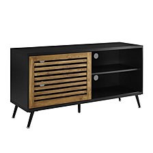 "52"" Transitional Wood Corner Media TV Stand Storage Console"