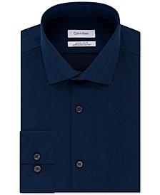 Calvin Klein X Men's STEEL Extra-Slim Fit Non-Iron Performance Herringbone Dress Shirt
