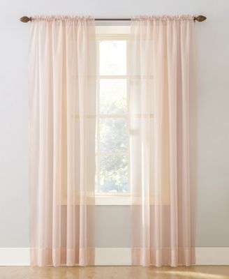"No. 918 Sheer Voile 59"" x 63"" Rod Pocket Top Curtain Panel"