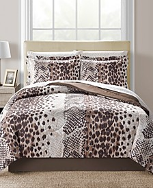 CLOSEOUT! Congo Reversible 6-Pc. Twin Comforter Set