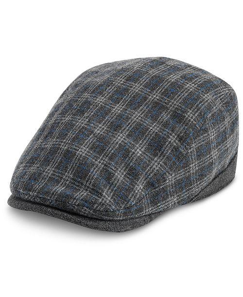 Levi's Men's Plaid Flat Top Ivy Hat