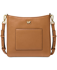 MICHAEL Michael Kors Gloria Soft Leather Pocket Crossbody
