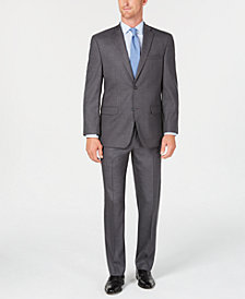 Andrew Marc Men's Modern-Fit Gray Neat Solid Suit