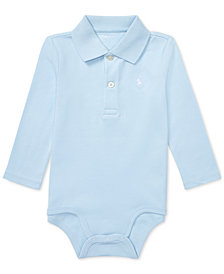 Ralph Lauren Baby Boys Cotton Interlock Polo Bodysuit