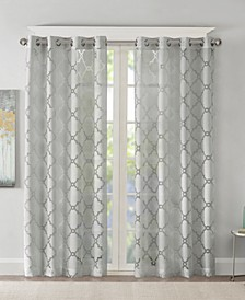 "Eden 50x95"" Fretwork Burnout Sheer Panel"
