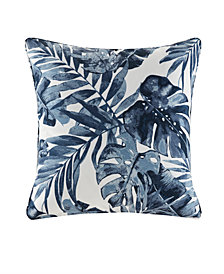 "Madison Park Everett 20"" x 20"" Printed Palm 3M Scotchgard Outdoor Square Pillow"