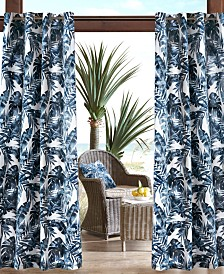 "Madison Park Everett 54"" x 84"" Grommets Printed Palm 3M Scotchgard Outdoor Panel"